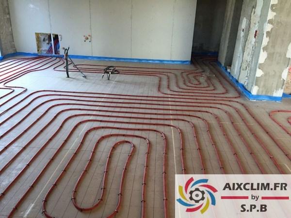 Installation plancher chauffant à Allauch