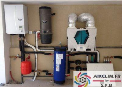 Installation de pompe à chaleur à Luynes