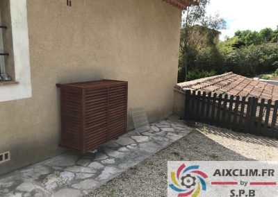 Cache groupe climatisation à Aix en Provence