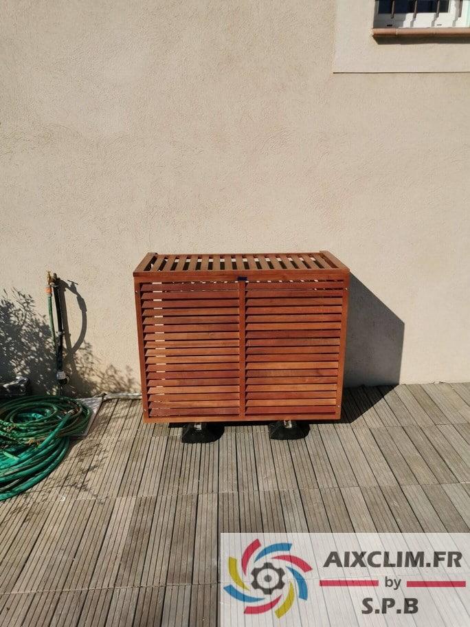 Cache groupe climatisation à Fuveau